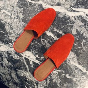 ASOS Moonshine Red Suede Leather Mules